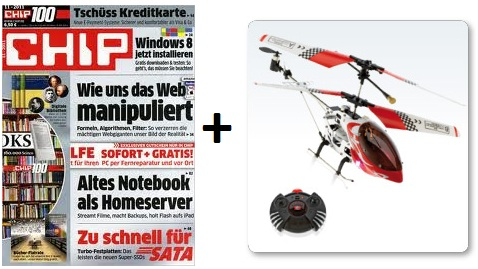 "[Mini Abo Tipp!] 3x ""Chip100"" für 15,50€ + GRATIS Mini Helikopter"
