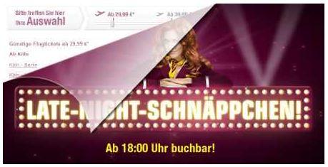 [Germanwings!] 1 Millionen Flüge für 29,99€ inklusive Gebühren
