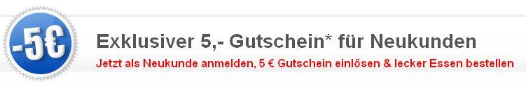 Lieferando! Pizza ab 3€, dank 5€ Gutschein.