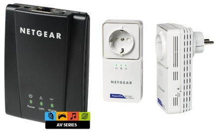 [Cyberport & ComputerBILD Aktion!] Netgear DLNA WLAN N Internet Bridge für 25€ & Netgear 500Mbit Powerline Kit nur 80€