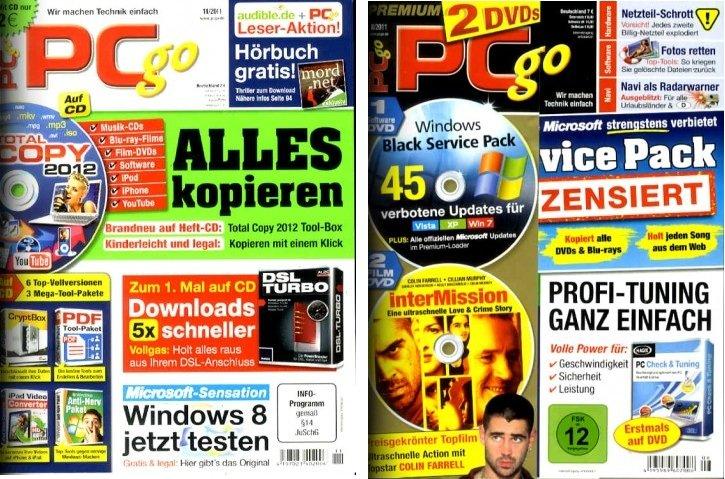 [Abo Schnäppchen] PC go Classic Jahresabo für 63,96€ oder PC go XXL mit Film   Jahresabo für 87,96€