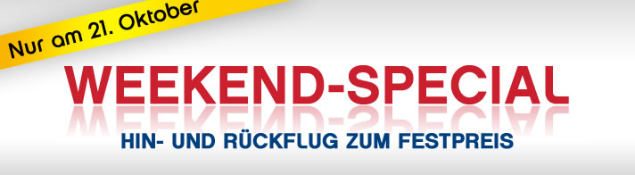 [Air Berlin] Weekend Special: Hin  & Rückflug für nur 98€