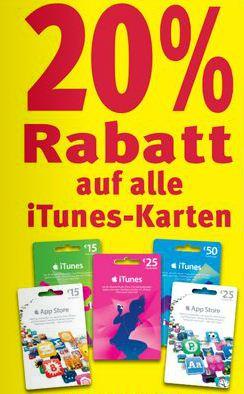 [Rossmann] 20% Rabatt auf ALLE iTunes Karten   vom 28.11. bis 02.12.2011