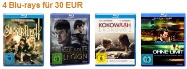 [Blu ray Aktion!] 4 Blu rays für 30€ inkl. Versandkosten