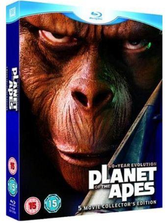 [Zavvi] The Planet Of The Apes   5 Movie Set [Blu ray] (5 Discs) für ~17,41€ inkl. Versand