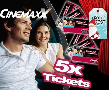 [DailyDeal] 5er Ticket Package für CinemaxX (inklusive aller Zuschläge) für nur 26,55€