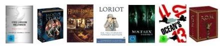 [Viele DVD Boxen reduziert bei Amazon] Matrix, Herr der Ringe, Loriot, Stieg Larsson... uvm.