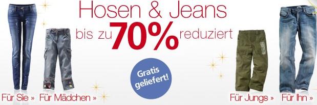 [Neckermann] Großer Hosen & Jeans Sale! Bis zu 70% Rabatt plus keine Versandkosten!