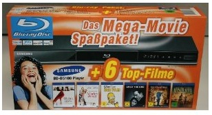 SAMSUNG BD D5100 Blu ray Player mit 6 Blu rays nur 100€ inkl. Lieferung