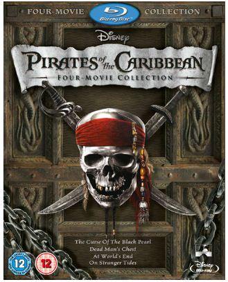 [Zavvi] Pirates of the Caribbean [Blu ray] Box Set (1 4 + Bonus Disc) für ~18,65€ inkl. Versand
