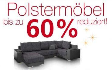 [Neckermann] Bis zu 60% Rabatt auf Polstermöbel + ab 500€ Einkaufswert nochmal 50€ Rabatt!