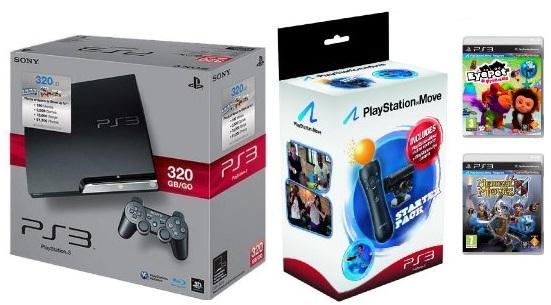 [PS3 Bundle Angebot!] PS3 Slim 320GB (inkl. Blu ray Karate Kid) + Move Starter Pack + Spiel für 234€ inkl. Lieferung