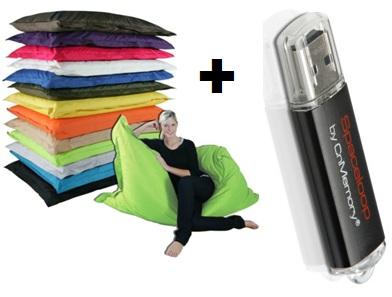 [Plus.de] Riesen Sitzsack (320 Liter) + 2GB USB Stick für 42€ inkl. Versand