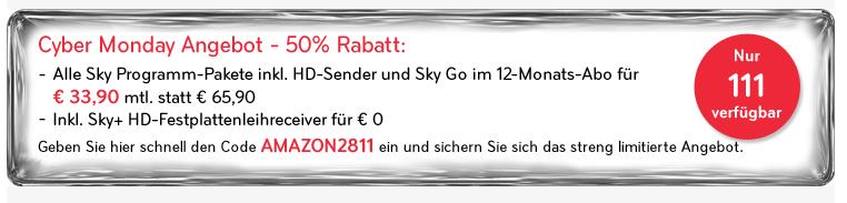 [UPDATE! Sky Komplett günsti]g Sky Komplett, und alle HD Kanäle und Sky Go mit Festplattenreceiver nur 33,90€/Monat (statt 66€)