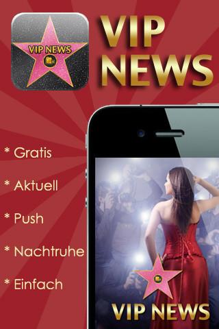 [Gratis App für iOS] VIP NEWS mit täglich aktuellen Hollywood News