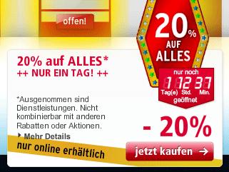 20% auf Alles bei A.T.U. (z.B. TomTom XXL Classic IQ für 90,20€   Vergleich 129€)