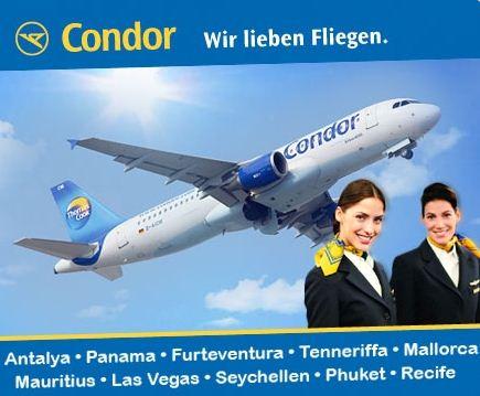 [DailyDeal] Condor Fluggutschein für 69€ statt 100€ – Flüge in die ganze Welt günstig online oder im Reisebüro buchen!