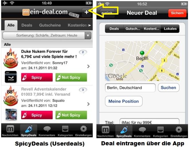 Mein Deal.com Schnäppchen App für Android, iPhone & iPad (Schnäppchenführer app)