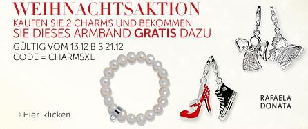 [Amazon] Aktion: 2 Rafaela Donata Charms kaufen und Charms Armband gratis dazu!