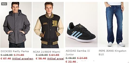 [Günstige Markenkleidung] SALE mit zu 80% Rabatt + 10€ Gutschein + 10% Extra Rabatt bis Mittwoch