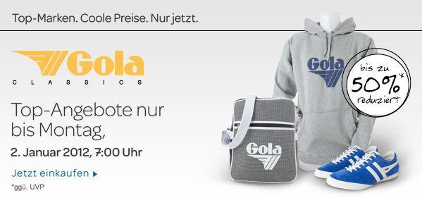 [eBay] Bei den FashionExclusives aktuell bis zu 50% Rabatt auf Gola Artikel (Schuhe, Taschen, Hoodies)