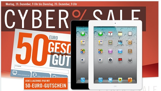 iPad 2 ab 465€ inkl. Versand (inkl. 50€ Cyberport Gutschein)