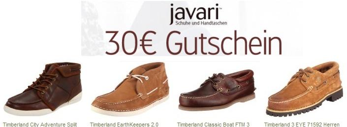 [Nur noch heute!] Schuhschnäppchen bei Javari! 30€ Gutschein für Javari (MBW 70€) günstige Markenschuhe ab 40€!