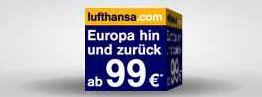 [Lufthansa] Tipp! Ab Morgen wieder 1 Mio. Extra Plätze   Europa Flüge (Hin+Zurück) ab 99€