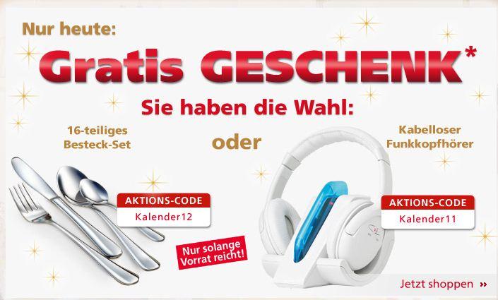 [Neckermann] Besteck Set oder Funkkopfhörer gratis zu jeder Bestellung ab 25€