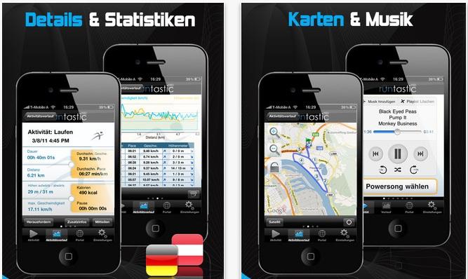 Jogger/Läufer App runtastic Pro kostenlos für iPhone (statt 4,95€)