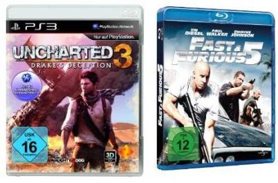 [2 Amazon Schnapper] Fast & Furious 5 [Blu ray] nur 8,97€ inkl. Versand + Uncharted 3 Drake's Deception nur 39€