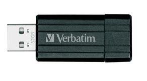 Verbatim USB Stick 32GB Pin Stripe (USB 2.0) für 13,95€ inkl. Versand