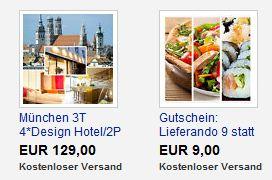 [eBay WOWs] 3 tägige Kurzreise für 2 Personen für 129€ & Lieferando Wertgutschein für nur 9€