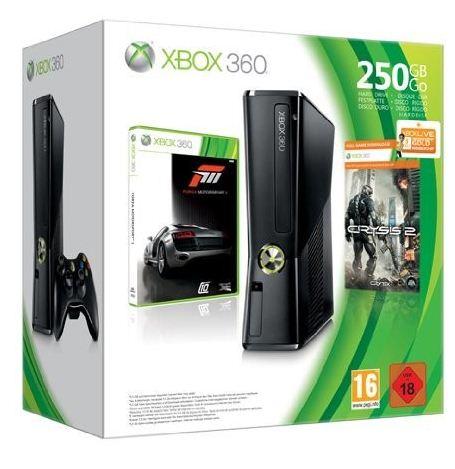 Xbox Bundle: Xbox 360 Slim 250 GB + Forza 3 + Crysis 2 nur 199,99€ (zzgl. USK)