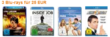 [Amazon] wieder da: 3 Blu rays inkl. Versand 25€