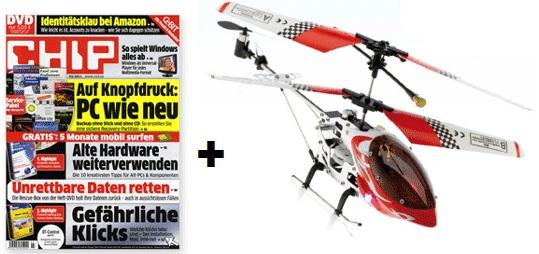 [HOT!] 3x CHIP mit DVD und ferngesteuerter Mini Helikopter nur 11,90€