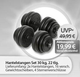 [meinpaket.de] Hantelstangen Set 30kg (22tlg.) für 19,99€ & Cerruti 1881 pour Homme EDT 100ml für nur 22,99€   je inkl. Lieferung