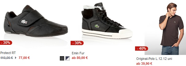 [Lacoste Sale] Günstige Lacoste Polos ab 40€ oder Sneaker (keine Versandkosten)