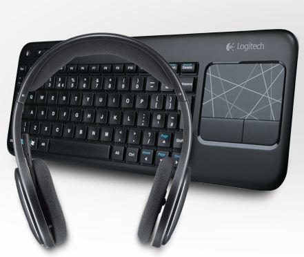 [Logitech] Logitech Wireless Touch Keyboard K400 & Logitech Wireless Headset H800 für nur 83,99€ (Vergleich: 115€)
