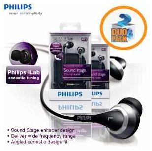 [iBOOD] In Ear Kopfhörer: Doppelpack Philips SHE9800 mit Philips iLab Technologie, inkl. Versand 35,90€