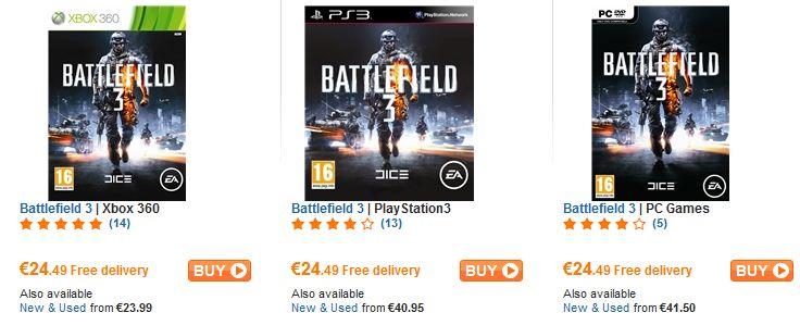 [play.com] Battlefield 3 für PC, Xbox & PS3 für je nur 24,49€ inkl. Versand