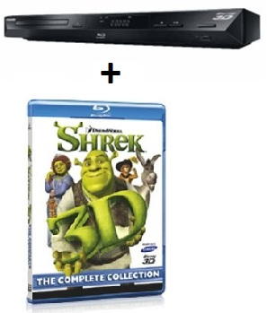 [3D Blu ray Player günstig] Toshiba 3D Blu ray Player (Upscaler 1080p, DivX,) + Shrek 3D Blu ray für 99€ inkl. Versand