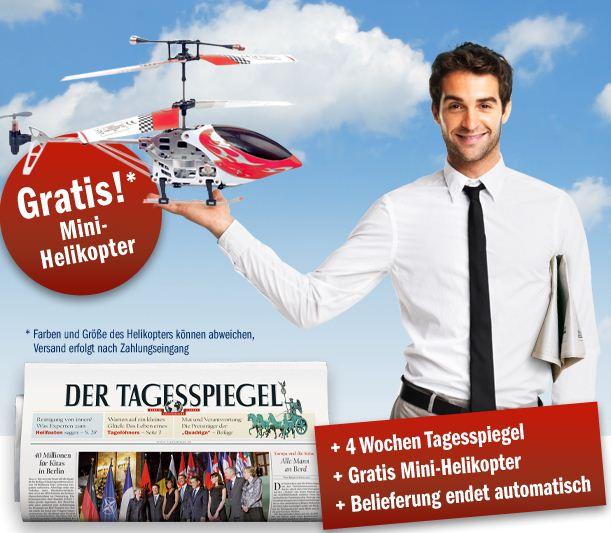 [Update] 4 Wochen lang Tagesspiegel lesen (28 Ausgaben) + GRATIS Heli für nur 20,65€   Abo endet automatisch!
