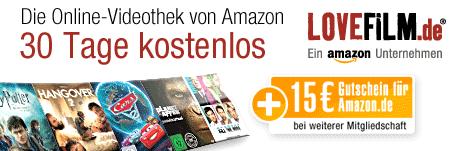 [Lovefilm] 30 Tage kostenlos und 15€ abstauben!