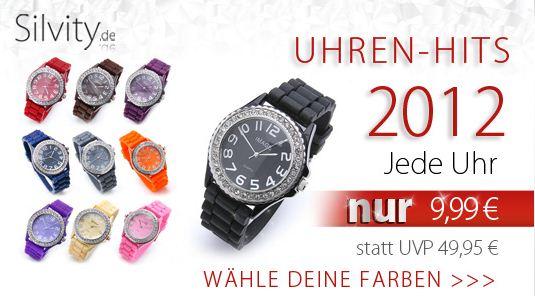 [Silvity.de] Armbanduhren in verschiedenen Farben für je 9,94€ inkl. Lieferung