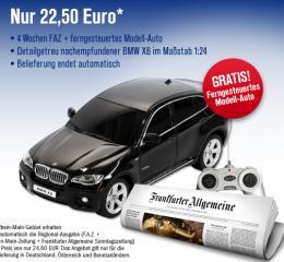 Vierwöchiges FAZ Probeabo (selbstkündigend) + ferngesteuerter BMW X6 nur 22,50€