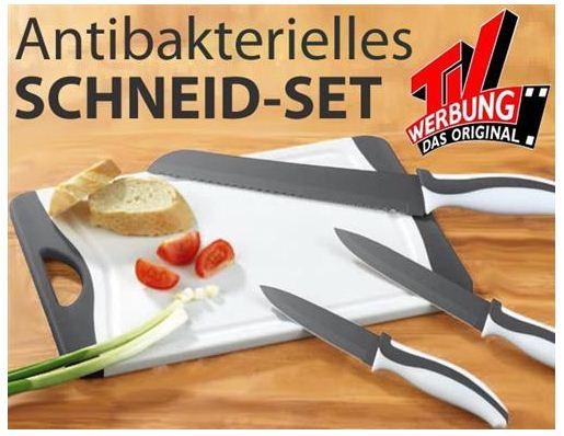 [eBay] 4 teiliges antibakterielles Messer  & Brett Set für nur 9,99€ inkl. Versand