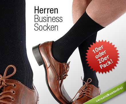 [DailyDeal] Business Socken für Herren: 10 Paar für 7,99€, 20 Paar für nur 12,99€   je inkl. Versand
