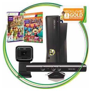 [Dealmachine] Ab 12Uhr: Nur 40 Stück Microsoft Xbox 360 4GB Video Kinect Bundle inkl. Webcam inkl. Versand 222€