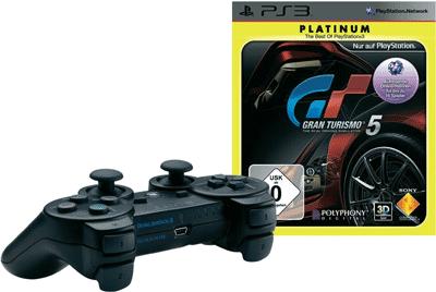 [Wieder da!!] PS3 DualShock 3 Wireless Controller + Gran Turismo 5 [Platinum] für 46,02€ inkl. Versand